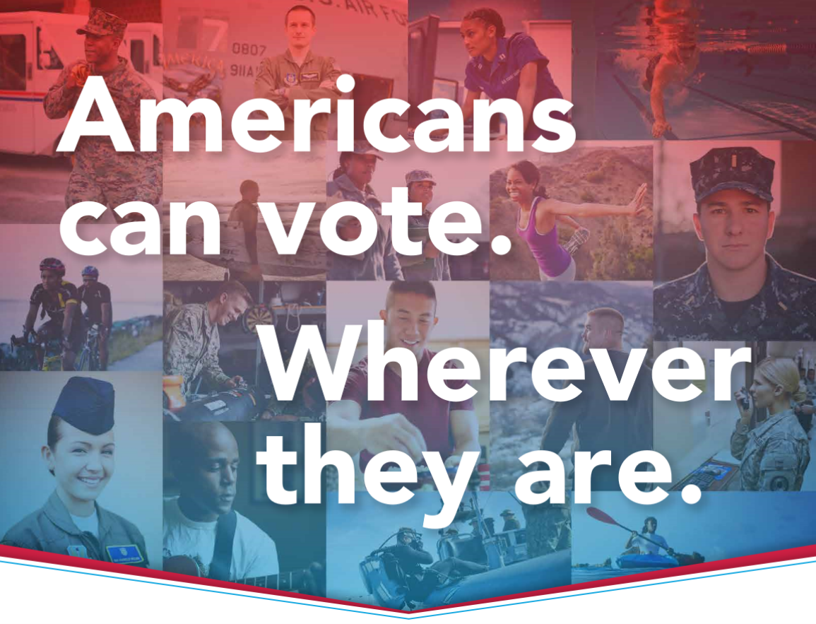 Americans can vote. Wherever they are.